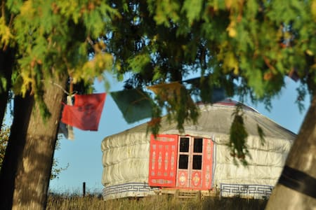 Wild Oat Farm Mongolian Yurt on semi-private lake - Jurta