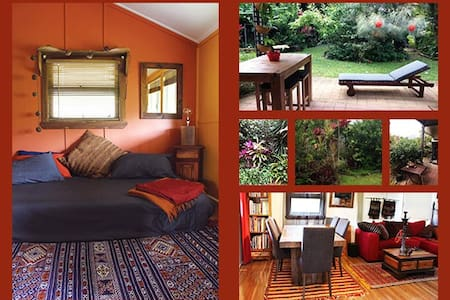 Colourful room in cottage, 22kms sth of Cairns - Casa