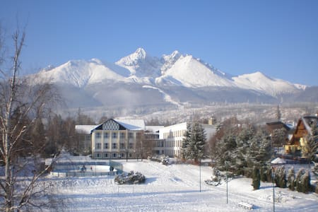 I am renting beautiful 62 m2 apartment in the heart of Tatranska Lomnica in High Tatras, with balcony.  The flat includes everything you need for your holidays, just come with luggage and enjoy!  Only 10 min away from the best ski resort in Tatras.