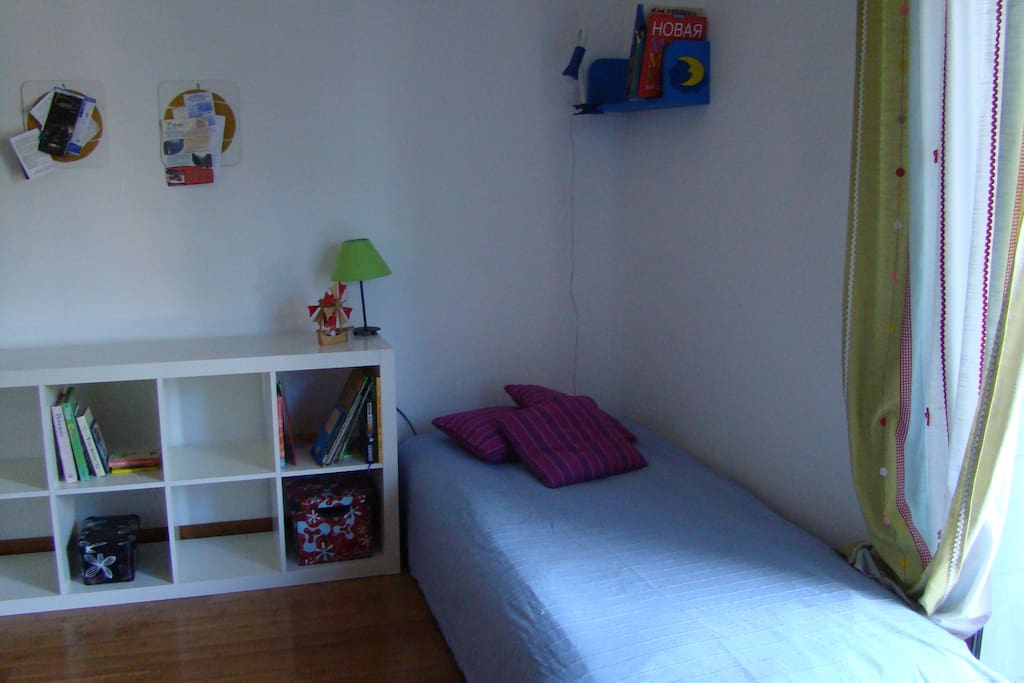 Second bedroom: single bed