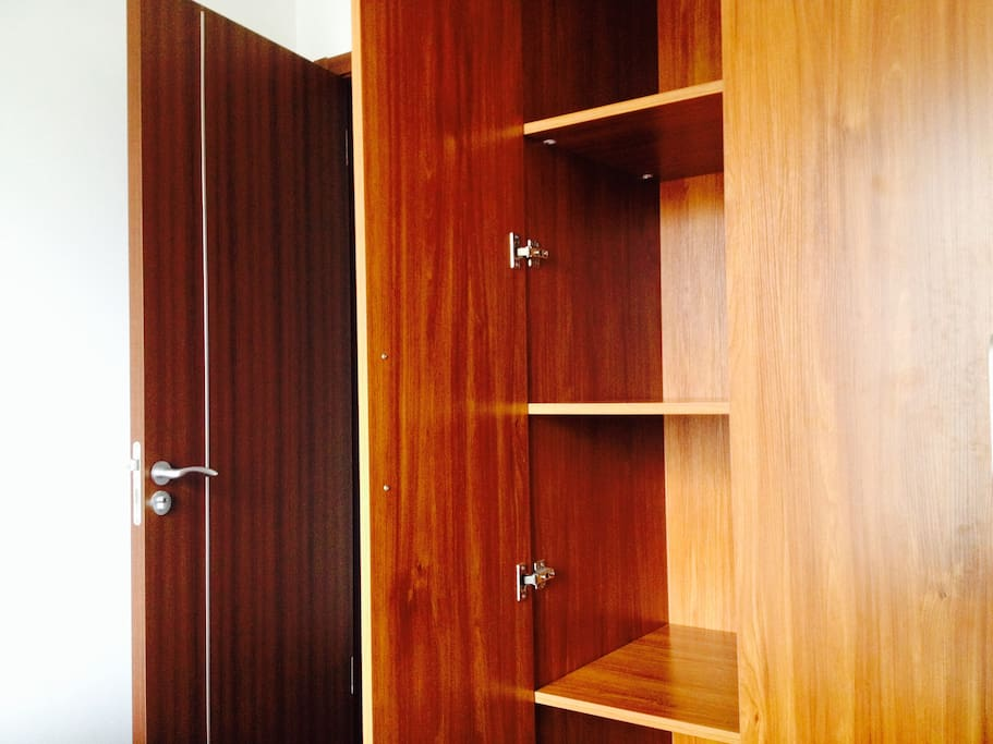 Empty closet for your personal belongings