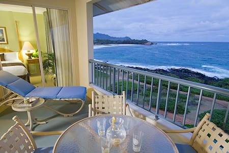 Ocean Front condo at Poipu Point