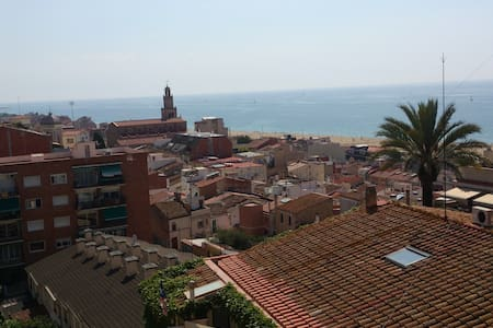 Nice flat 5 minutes to the beach, beautiful views - El Masnou - Apartment