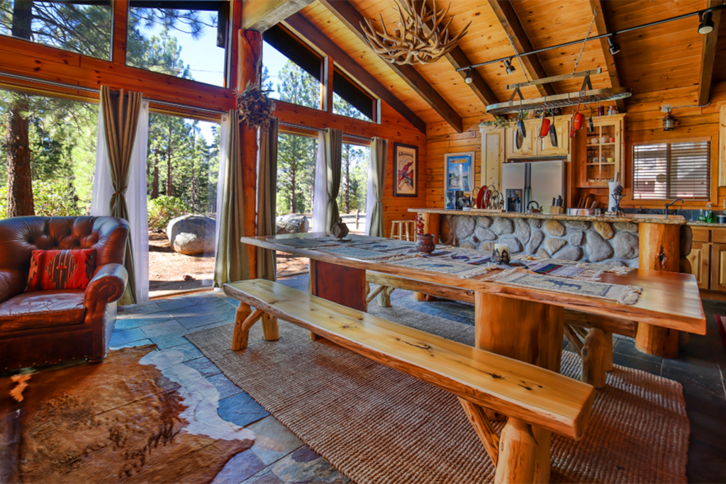 The lake tahoe chalet houses for rent in south lake tahoe for How to decorate a vacation rental home