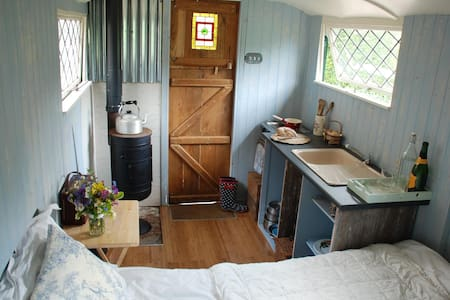 Sussex Shepherds Hut by lake - Horam - Cabana