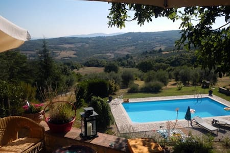 Stunning Views in Rural Umbria - Acqualoreto - Lägenhet