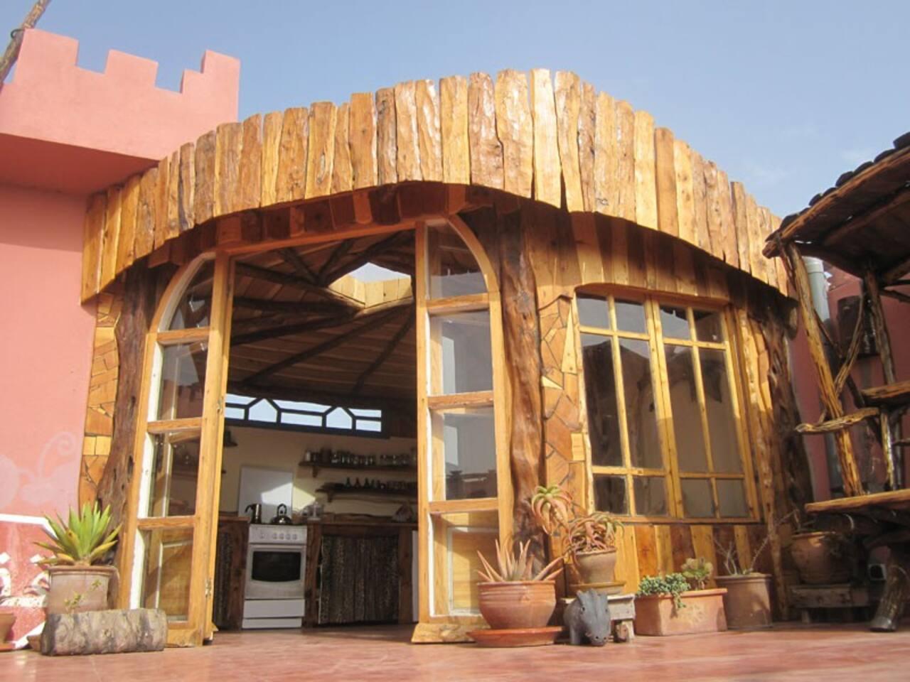 Casa Guapas`terrace kitchen