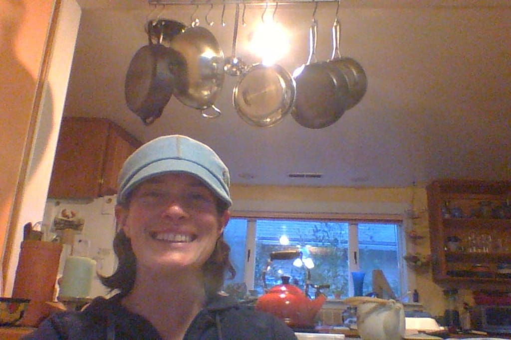 I am Mira and this is our kitchen.  Welcome!  Can't wait to meet you.