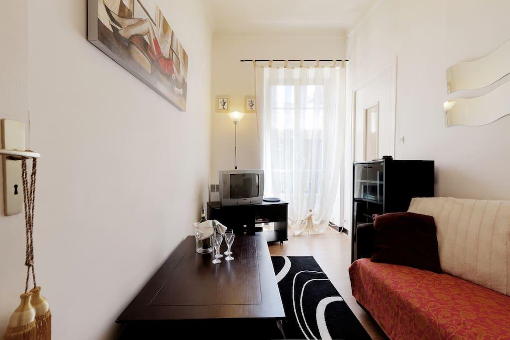 Jolie apartement center Nice -beach