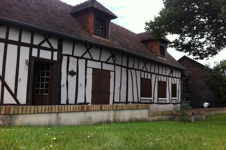 maison normande a colombage ste marthe - House