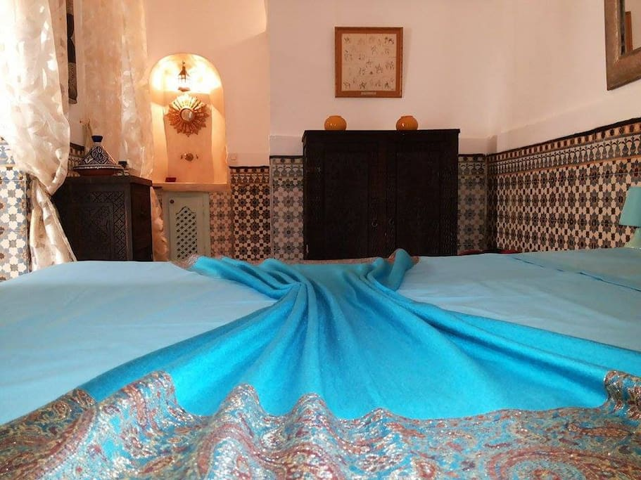 Chambre d h te dans riad de charme bed breakfasts for Chambre d hote marrakech