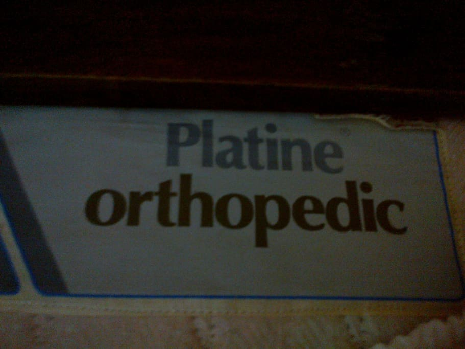 ... with an orthopedic mattress