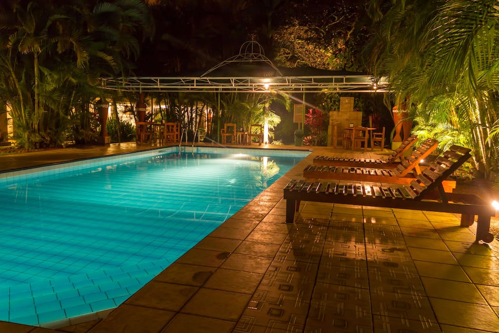 Come for an evening swim in the pool