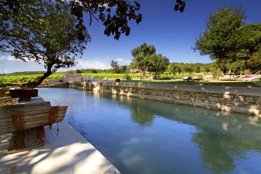 Stone natural pond