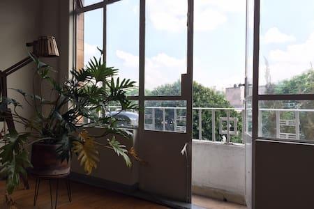 Cozy Private Room in CONDESA in great apartment - Ciudad de México - Apartment