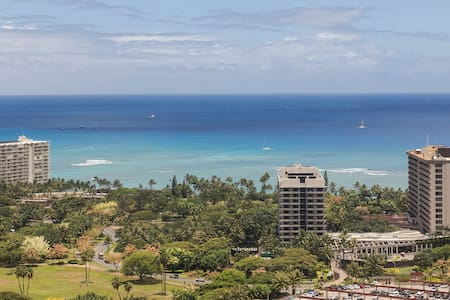 EPIC FULL OCEAN VIEW! HIGH FLR, KITCN A/C - Honolulu - Apartment