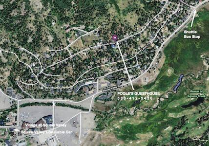 #1_Easy Walk to SquawValleyVillage| near bike trls - Olympic Valley - Cabaña