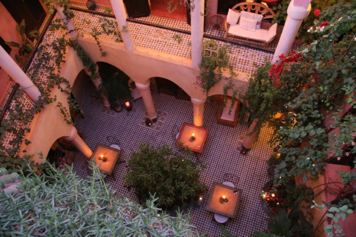 The Evening Courtyard