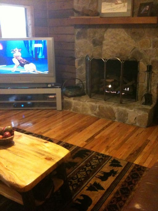 Fire Place and Big Screen TV