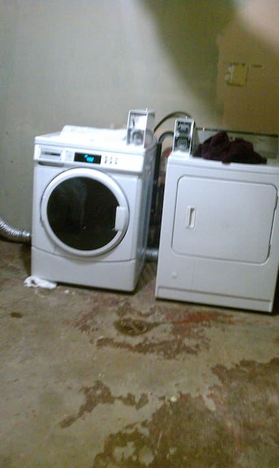 coin operated washing machine and dryer
