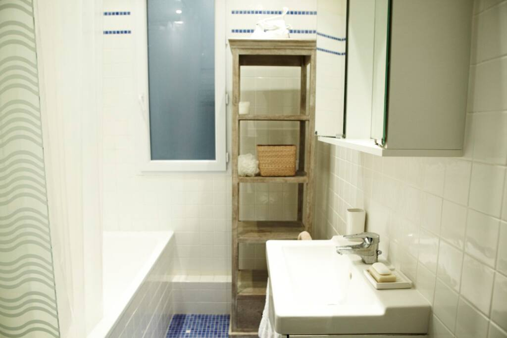 Modern shower and sink