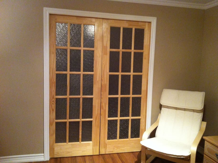 Room access -Sliding doors