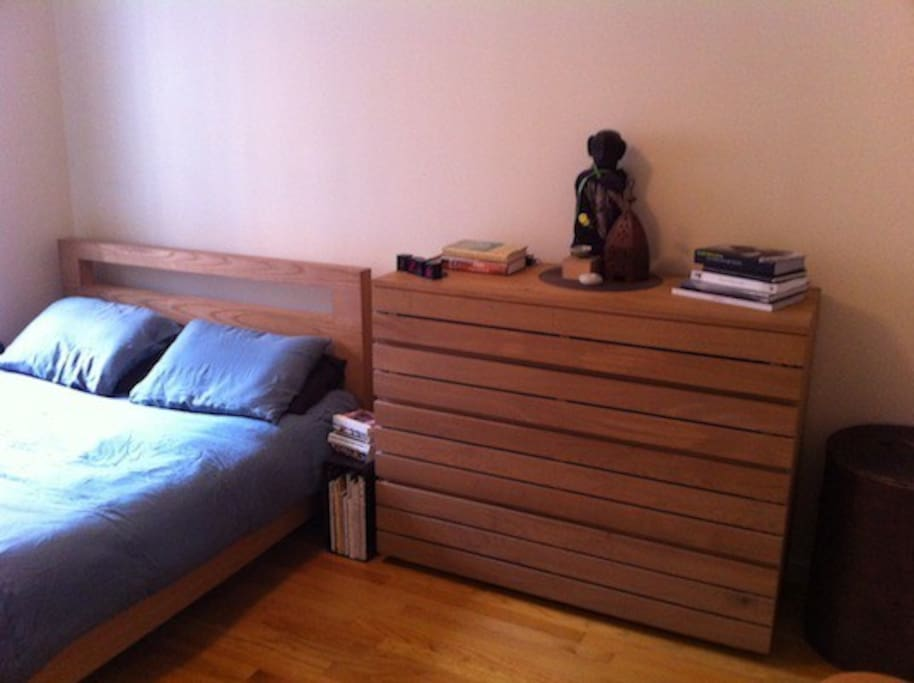 Bedroom includes large chest of drawers with plenty of space for you to store your clothes.