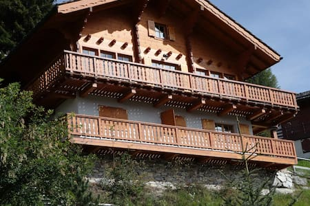 Wooden chalet with stunning view - Saint-Luc