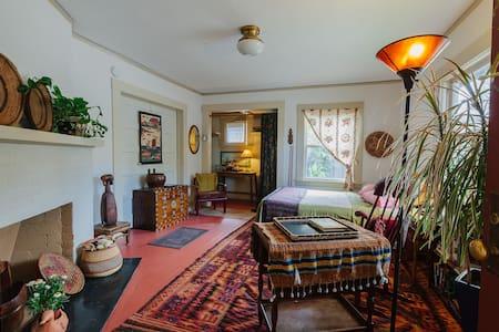 Textile/tea maven's front room