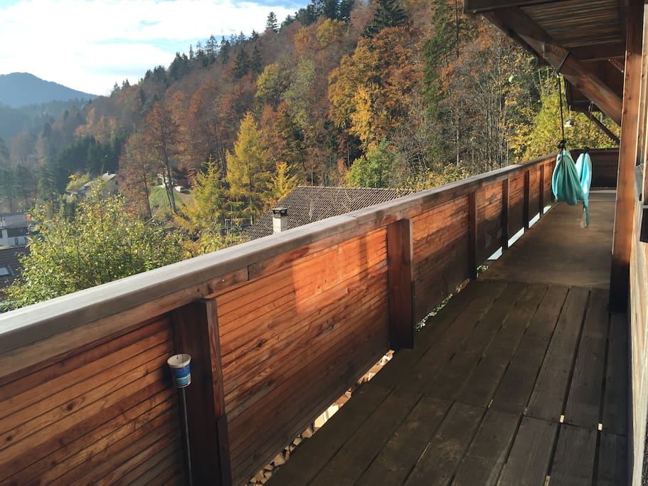 Balcony with autumn colours