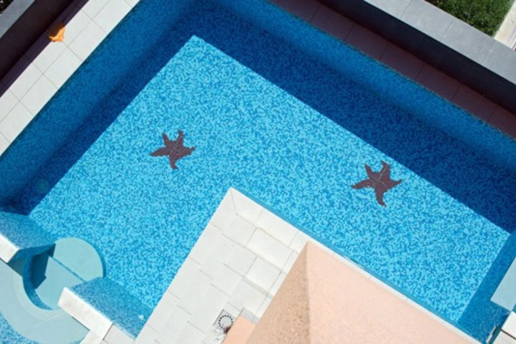 Villa -letter L shape pool