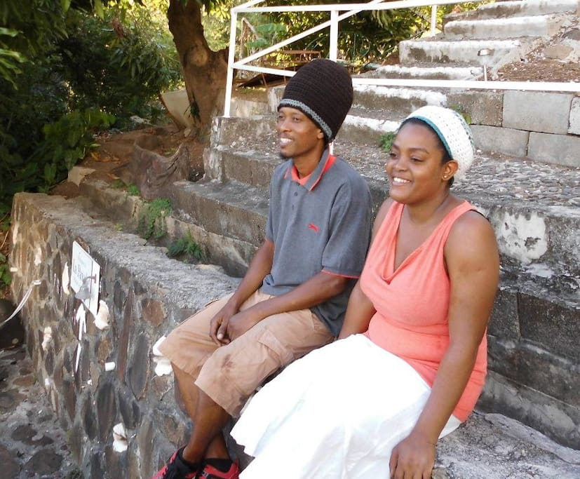 Melvin and Nyalie who help out