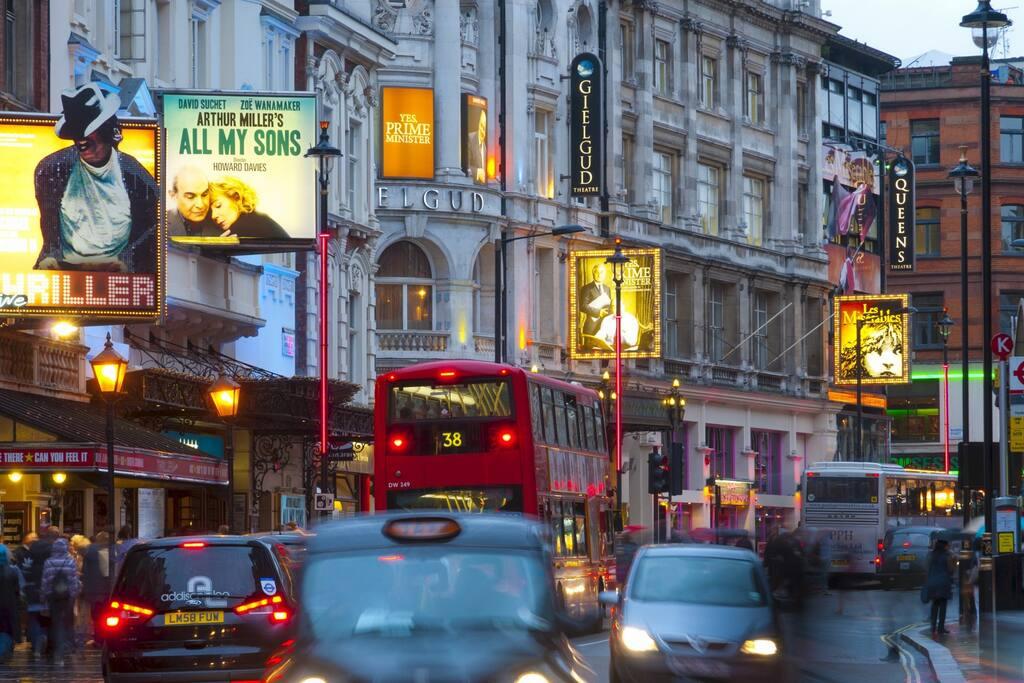 Theaterland - Shaftesbury Avenue (about 1min walk)