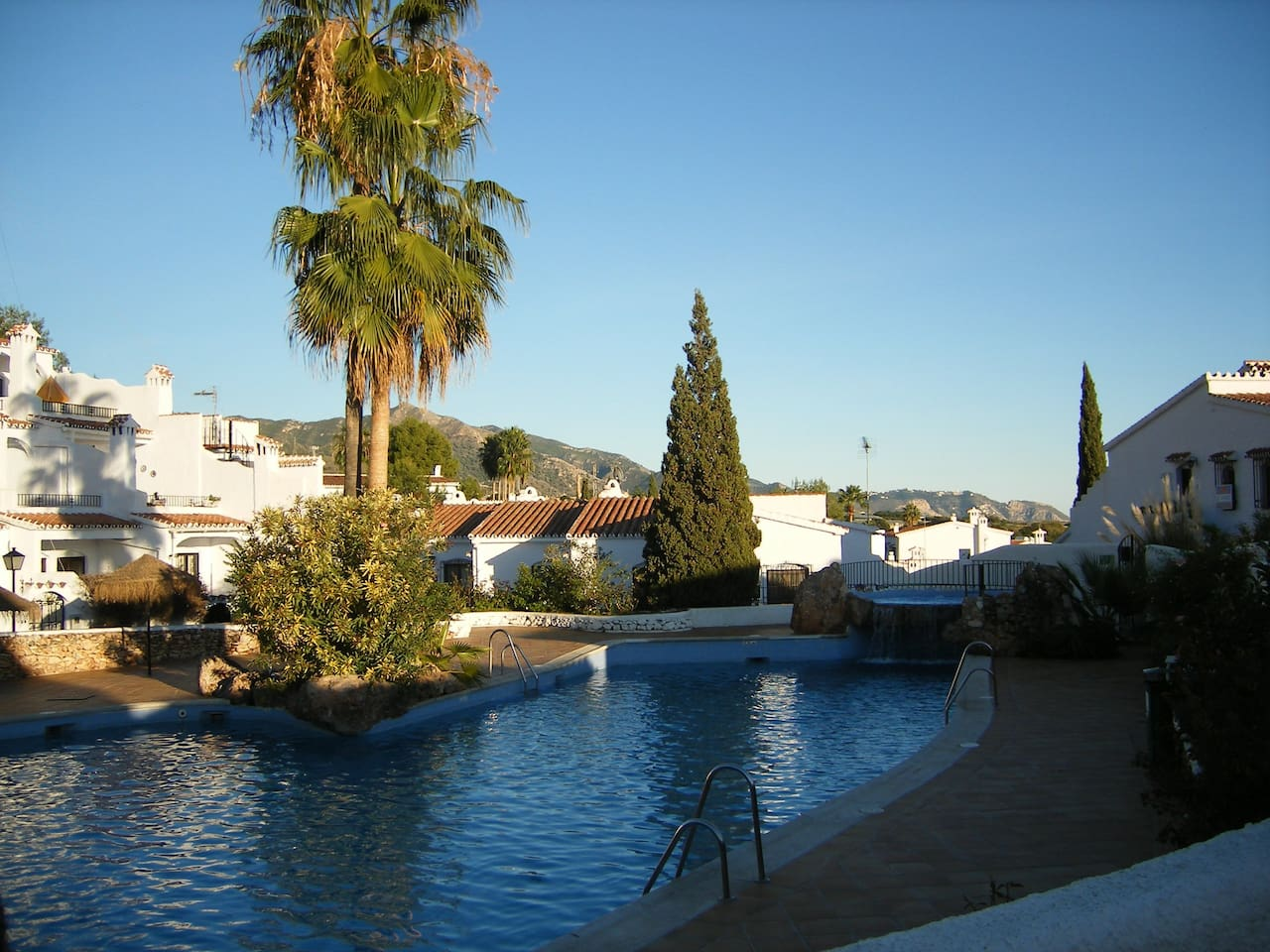 one of the 3 swimming pools on the grounds