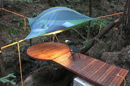 Amazing Tentstile tent over creek