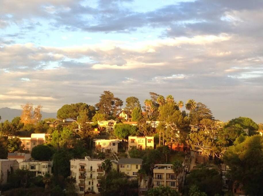 skyview across sunset blvd from balcony
