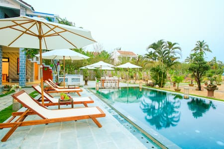 Twin room with pool view on the ground - Hội An - Villa