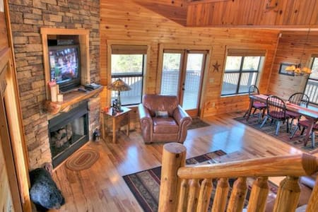 Large Cabin with Spectacular Views - Cleveland - Annat