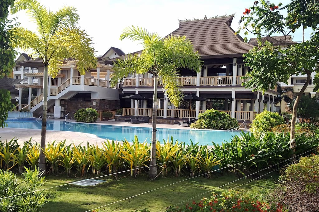 Swimming pool and clubhouse.