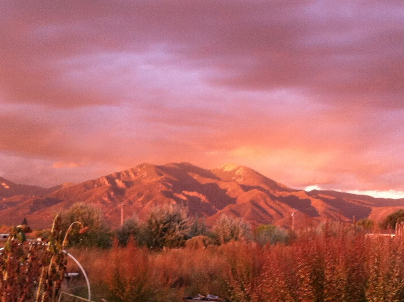 Magical Taos - view from our garden.