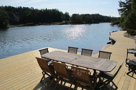 Stockholm archipelago villa with own private dock - Stockholm - House