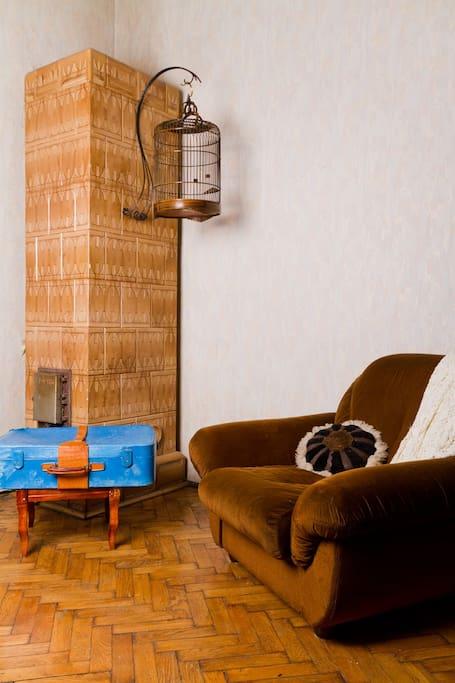 Nice tile oven...