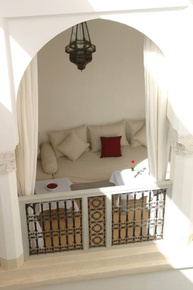 View of loggia on first floor from the room Oleander