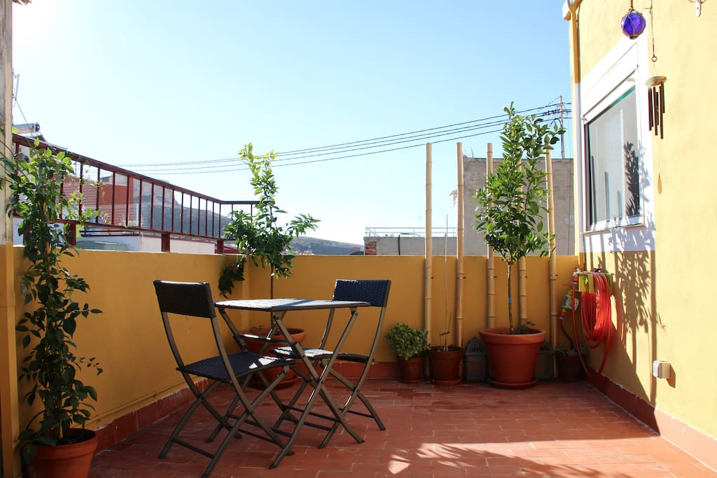 Terrace for your zen breakfast and afternoons
