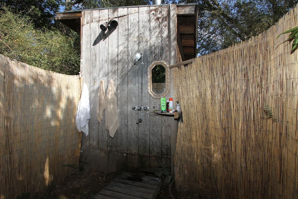 Outdoor Shower near the Gingerbread House