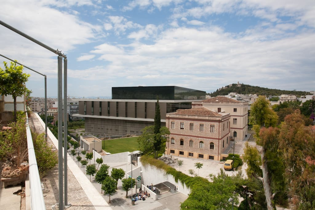 Acropolis New museum, just opposite the apartment. Access all major Athenian  sites within minutes