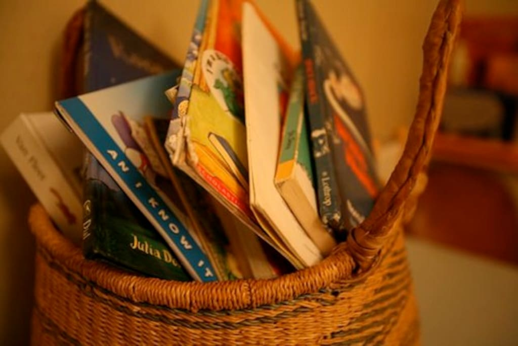 Some books in a basket!