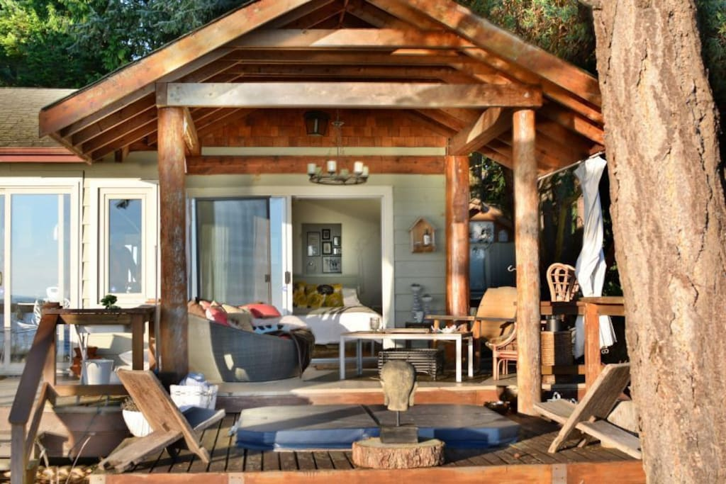 Cabana is a cozy retreat on warm days and cool days.