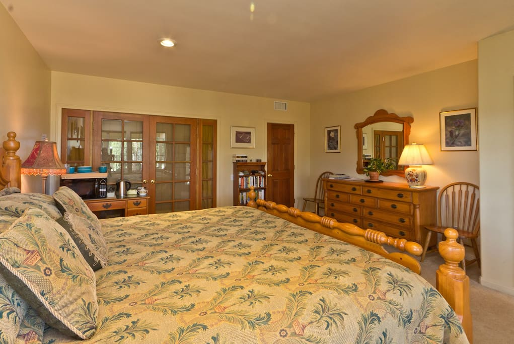 Our guests rave about the comfort of the Cal King bed.