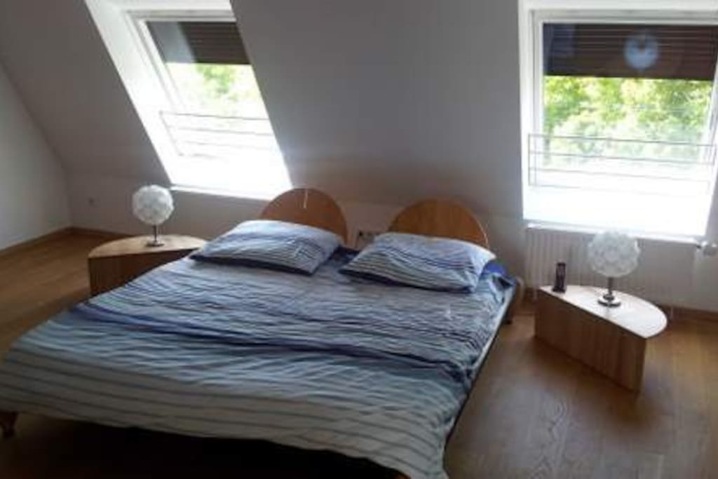 Doppelzimmer mit Blick auf Maßmannpark
